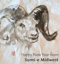 Happy new year-sumie