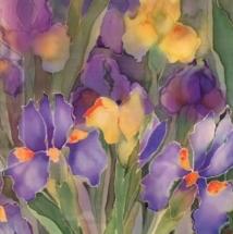 Iris on Silk